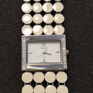 Vivah watch with white band